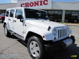 white jeep sahara 2011 jeep wrangler unlimited sahara 4x4 in bright white 566534