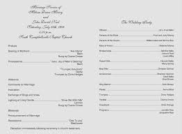 catholic wedding program catholic wedding program luxury wedding ceremony outline ceremony