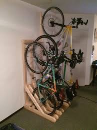 vertical bike rack from 2x4s 7 steps with pictures