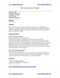 Cognos Sample Resume Resume Resume Data Analyst