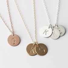 initials necklace initial necklace 13mm gold silver or the silver wren