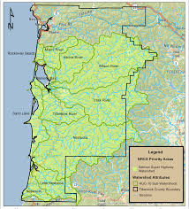 Tillamook Oregon Map by Salmon Superhwy Project Nrcs Oregon