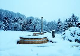 Wood Fired Bathtub Xxl Round Wooden Tub ø 2 4m For 12 Internal Wood Fired