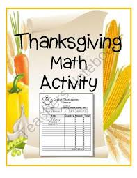 191 best thanksgiving math activities images on math