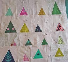 christmas tree mini quilt in progress crafty planner