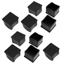 Patio Furniture Chair Glides Amazon Com 10 Pcs Black Rubber Square 40mm X 40mm Table Chair Leg