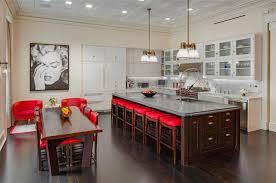 red kitchen island home decoration ideas
