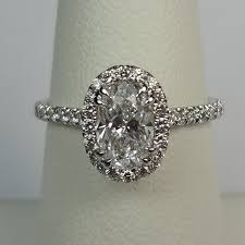 oval engagement ring with halo 0 91ct oval halo ring gale diamonds chicago