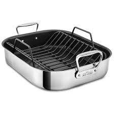 all clad large nonstick roasting pan with rack 16