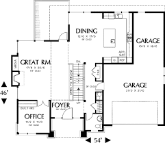 house plans for sloped lots prairie style solution to sloping lot 69097am architectural