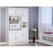 meubles de cuisine buffet de cuisine 6 portes 120x44x181cm coloris blanc pas cher