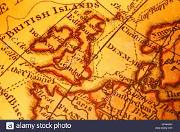 Old Map Old Map Of Britain British Isles Uk United Kngdom And Northern