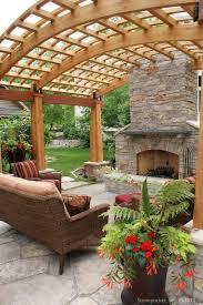 stonepocket fireplace and pergola in maple grove minnesota