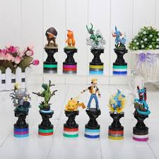 chess styles 3 styles 10pcs set pokemon figure toy pikachu charizard pvc action