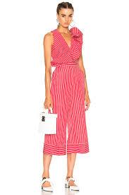 white sleeveless jumpsuit msgm striped sleeveless jumpsuit in white fwrd