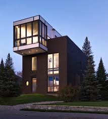 modern style homes exterior with 3 story house toronto architects