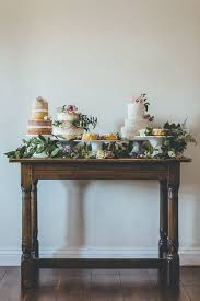 Wedding Cake Display Great Overall Look Only Flowers On The Cakes Not On The Table