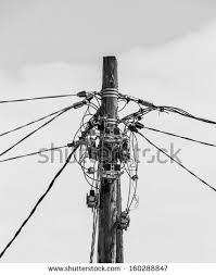 chaos cables wires kathmandu nepal stock photo 192874469