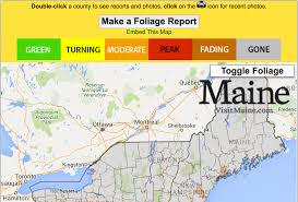 Maine Road Map Live Fall Foliage Map New England Today