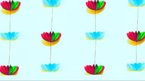 decor for home paper flower garland for home decoration diy wall decoration
