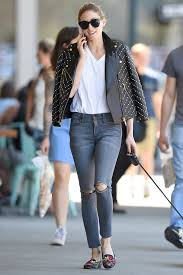 casual motorbike shoes olivia palermo stuns in a casual street style look wearing jeans