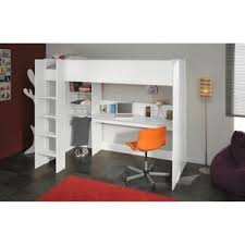 lit enfant mezzanine bureau dave lit sur élevé 90cm avec rangement blanc chambre lea
