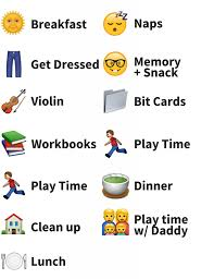 clean emoji how to create an emoji schedule for your toddler the little years
