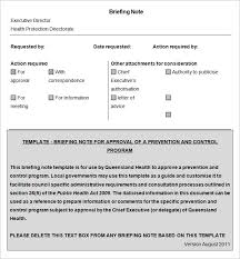 briefing note template 9 free word documents download free