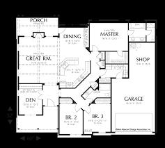 Floor Plan With Garage Mascord House Plan 1231a The Blackburn