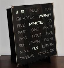 clock interesting word clock ideas led word clock sale word