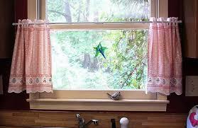 Kitchen Bay Window Ideas Curtains Beautiful Small Kitchen Window Curtains Cafe Curtains