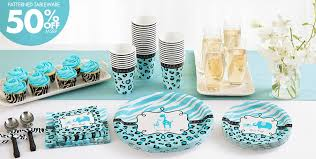 baby shower tableware blue safari baby shower party supplies party city