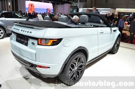 evoque land rover convertible range rover evoque convertible rear three quarter at the 2016
