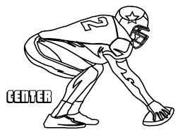 center american football coloring pages coloringstar