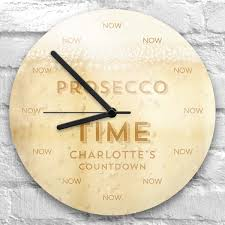 personalised prosecco time clock exclusive to present finder