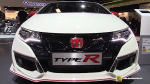 honda civic type r white 2017 honda civic type r white edition exterior and interior