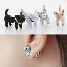 cat earrings cat earrings front and back every purchase helps animals