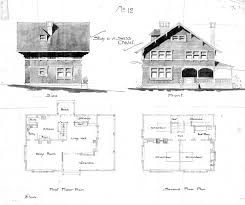swiss chalet no 12 side u0026 front first u0026 second floor plan
