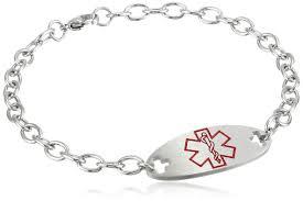 metal allergy jewelry penicillin allergy bracelet alert silicone