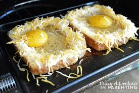 How To Make Grilled Cheese In Toaster Cheesy Baked Egg Toast Crazy Adventures In Parenting