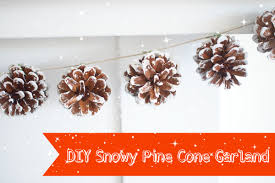 pinecone garland snowy pine cone garland for christmas diy tutorial the magic