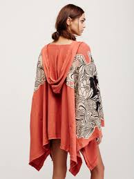 free people bungalow poncho in orange lyst