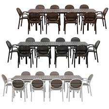 nardi alloro 11 piece dining set with extendable table with palma