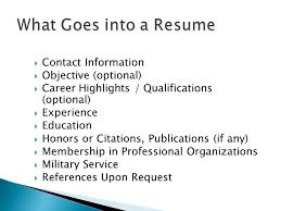 Highlights On A Resume Valuable Ideas What Goes On A Resume 10 What Goes Cover Letter