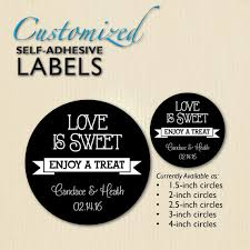 wedding favor labels custom chalkboard is sweet wedding favor label engagement