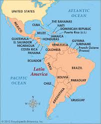 Map Of Latin America by Political Map Of Central America And The Caribbean Nations Maps