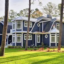 craftsman house colors exterior blue sherwin williams superpaint