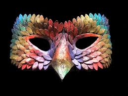 feather mask feather mask by novicejeweller on devianyart polymer clay