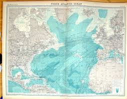 Ocean Maps Old Print Antique And Victorian Art Prints Paintings World Maps