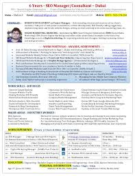 sle seo resume seo marketing manager description best market 2017